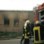 Brand eines leerstehenden Gebäudes in Auerbach                                                  Foto: B.Seidel