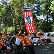 mit dem Jugendblasorchester der Stadt Auerbach erlebten wir einen tollen Nachmittag,                         Foto: FFW Vogelsgrün