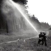 1977 Einsatzübung am Bachhaus Schnarrtanne                                                               Foto: B.Seidel