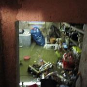 In manchen Kellern stand das Wasser 1m hoch.
