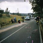 Verkehrsunfall zwischen Vogelsgrün und Brunn                                              Foto: B.Seidel