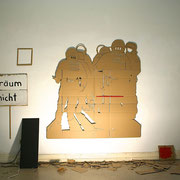 CONTROL 1 (Barrikade) 2014, Installationsmaße ca. 280 x 400 x 100 cm