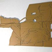 CONTROL  2 ( Festnahme) 2014 , Maße 105 x 140 x 2 cm