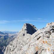 grandiose Aussicht auf die Mittelspitze - auf gehts