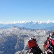 herrlicher Ausblick von der Südspitze (2712m)