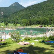 Ausspannen, ausspannen im herrlichen Naturbad Aschauerweiher / Bischofswiesen