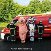 Les mascottes chez les pompiers