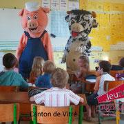 Les mascottes à l'école