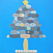 石メリークリスマス   Stone merryXmas.             F3  Oil on canvas, 2009