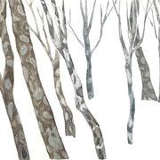 「木々たち」 Watercolor. 2018 Private collection.