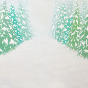 雪の日       Snow day.      F20  Oil on canvas, 2015