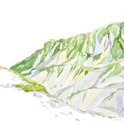 「夏の縦走」  Watercolor. 2016