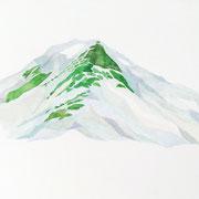 「Mt.Tateyama.   内蔵助山荘から」  Watercolor. 2016
