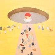 フライパン公園祭り   Fry pan park festival.         S80    Oil on canvas, 2009