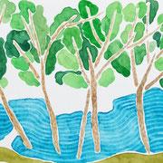 「水辺」   Watercolor. 2017 Private collection.