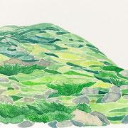 「霧の中」  Watercolor. 2017