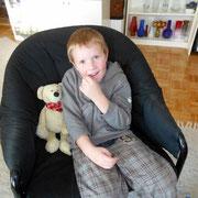 Der Sohn unserer Starpfotografin mit seinem Freund Monty
