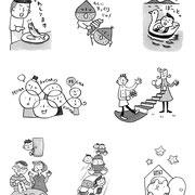 雑誌 月刊PHP挿絵 特集記事挿絵、ダジャレ工房は2010年7月より連載継続中 販元 PHP研究所