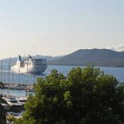 Vue de notre hôtel à Propriano