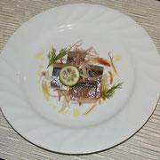 秋刀魚とミョウガのすだちマリネ