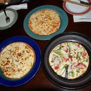 3種のピザ