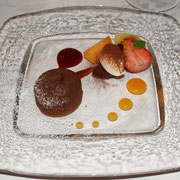 フランス産マロンクリームのフォンダンケーキ