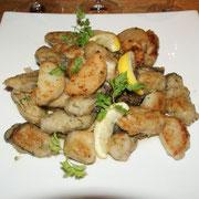 宮古産牡蠣と里芋のムニヤイア レモンバターソース