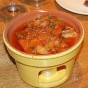 小腸のトマト煮込み