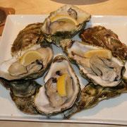 軽く蒸した牡蠣