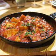 イイダコとポテトのトマト煮込み