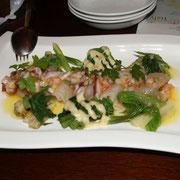 3種のお魚と山菜のカルパッチョ