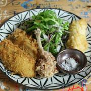 揚げ物(牡蠣、ヒラメ、チューリップ)
