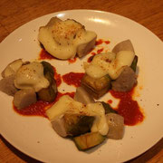 青ナスと里芋のチーズ焼き