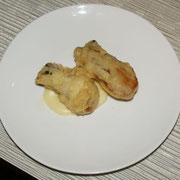 牡蠣のフリット 燻製の薫り
