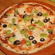 空豆のピッツア
