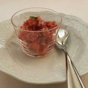 イチゴとヨーグルトのグラニテ