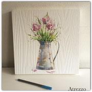 Cuadro pequeño Flores en Madera pintada  / Medidas : 30 x 30 cms./ 1 unidad / Arriendo: $ 3.000 / Garantía: $ 10.000