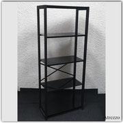 Estante Negro Repisas vidrio / 1 unidad / REF-MUE 078 / Medidas: Alto: 152 cms. x Ancho: 60 cms. x Fondo: 30 cms. / Arriendo: $ 20.000 / Garantía: $ 80.000