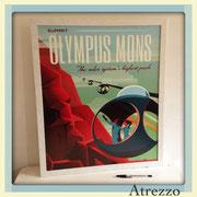 Cuadro OLYMPUS MONS (sin vidrio) / REF: CUA-089 / 60 x 50 cms./ 1 unidad / Arriendo: $ 15.000 / Garantía: $ 35.000