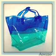 Bolso playa transparente azul y verde/ REF: VAR- 097 / 1 unidad/ Arriendo: $ 2.500 / Garantía: $ 10.000
