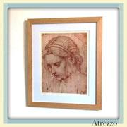 Cuadro grabado mujer  / REF: CUA-022 / 60 x 50 cms./ 1 unidad / Arriendo: $ 11.000 / Garantiía: $ 30.000