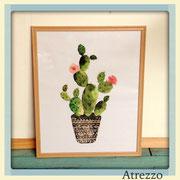 Cuadro Cactus / REF: CUA-057 / 40 x 50 cms./ 1 unidad / Arriendo: $ 8.000 / Garantía: $ 25.000