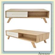 Mesa de Centro Madera bicolor / 1 unidad / Medidas:  Largo: 120 cms. x Ancho: 60 cms. x Alto: 35 cms. / Arriendo: $ 35.000 / Garantía: $ 140.000