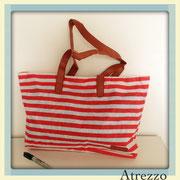 Bolso playa rayado Rojo y blanco / REF: VAR- 024 / 1 unidad/ Arriendo: $ 3.000 / Garantía: $ 10.000