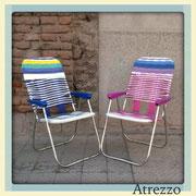 SILLAS VINTAGE ALUMINIO PVC COLORES (AZUL Y FUCSIA)  (REF: MUE-049) 2 UNIDADES / ARRIENDO: $10.000. C/U / GARANTIA: $30.000 C/U
