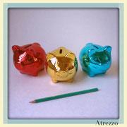 Chanchos Deco colores pequeños/ REF:  / 3 unidades / Arriendo: $ 1.000 c/u / Garantía: $ 6.000 c/u