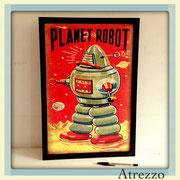 Cuadro PLANET ROBOT (sin vidrio) / REF: CUA-086 / 50 x 33 cms./ 1 unidad / Arriendo: $ 8.000 / Garantía: $ 30.000