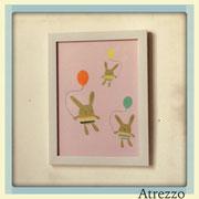 Cuadro conejos Gobos 1 / REF: CUA-044  / 33 x 25 cms./ 1 unidad / Arriendo: $ 3.000 / Garantía: $ 10.000