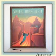 Cuadro VALLES (sin vidrio) / REF: CUA-087 / 60 x 50 cms./ 1 unidad / Arriendo: $ 12.000 / Garantía: $ 35.000