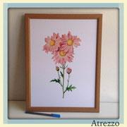 Cuadro serie flores 4  / REF: CUA-080 / 30 x 40 cms./ 1 unidad / Arriendo: $ 5.000 / Garantía: $ 25.000